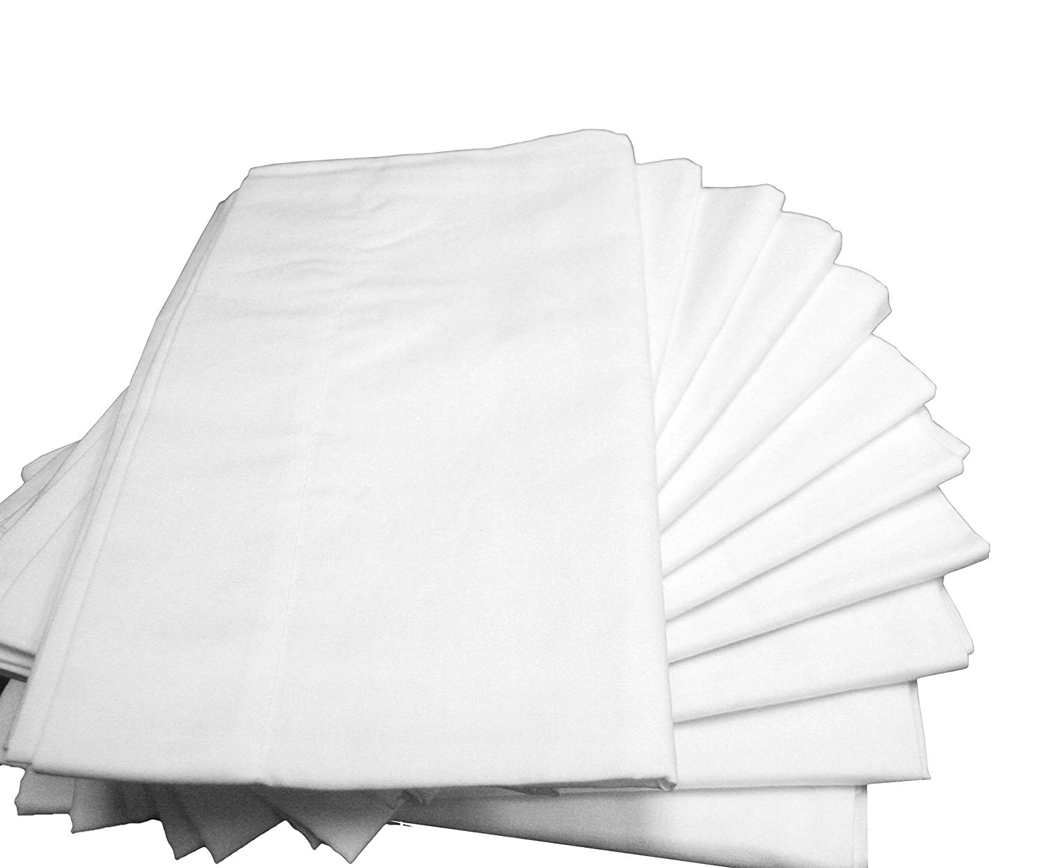 chair covers in bulk blue sling patio cheap find deals on line at get quotations atlas polycotton pack of 6 standard size b grade pillowcases 130 thread count economy