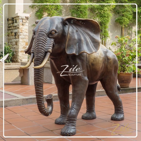 Hot Outdoor Life Size Bronze Large Elephant Statues
