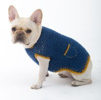 Cute Button Crochet Dog Clothes Hand Knit Dog Sweater ...