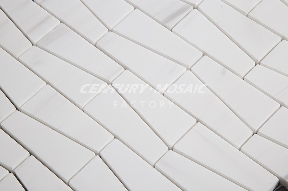 good quality bianco dolomite marble trapezoid mosaic tile for backsplash buy marble mosaic tile trapezoid mosaic tile mosaic tile product on