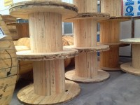 Fumigated Large Flanges Wooden Empty Cable Spools For Sale