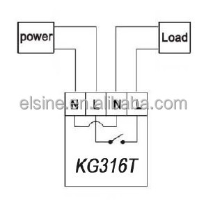 25A street lighting control Timer Switch new KG316T, View