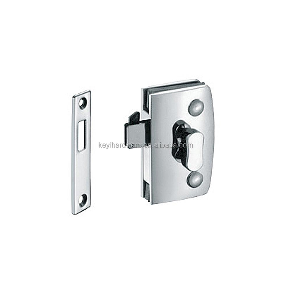 medium resolution of thumb turn door lock for double swinging glass door commercial glass door lock