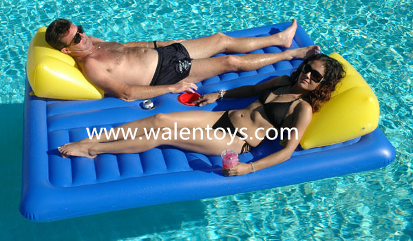 Pool Float Double Raft Lounger Inflatable Boat Mattress