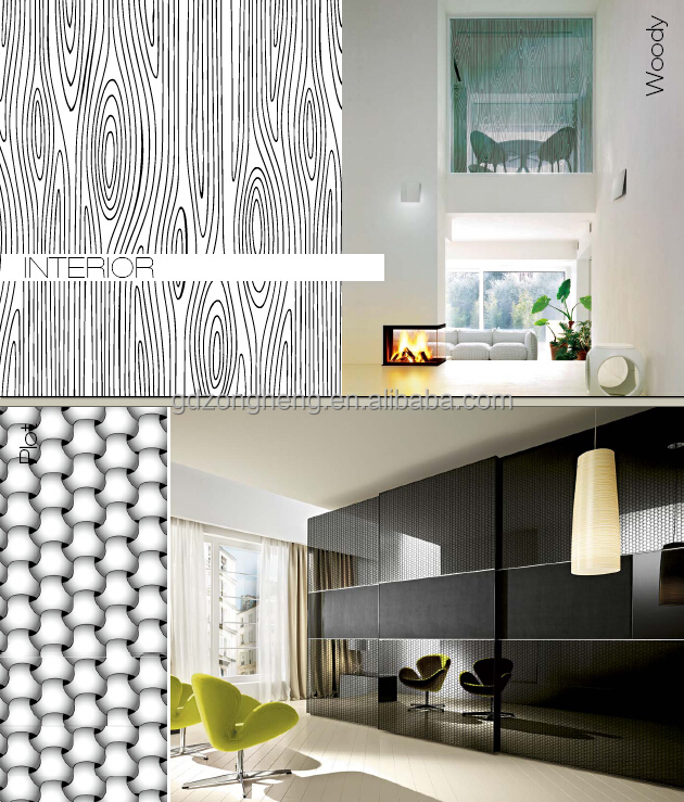 Black Decorative Glass Coated Glass Living Room Glass Partition