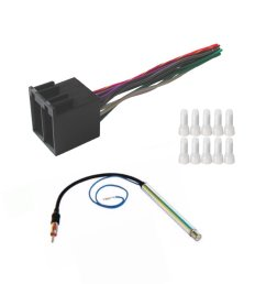 get quotations asc audio car stereo radio wire harness and amplified antenna adapter to install an aftermarket radio [ 1200 x 1248 Pixel ]