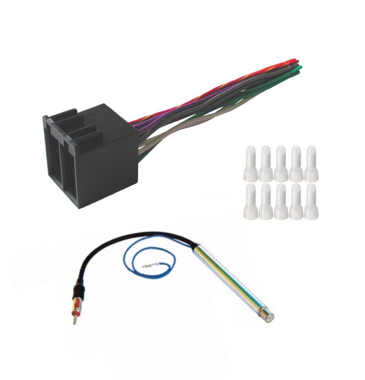 hight resolution of get quotations asc audio car stereo radio wire harness and amplified antenna adapter to install an aftermarket radio