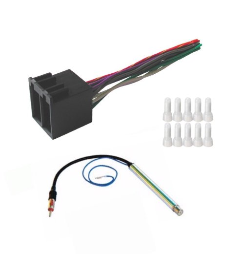 small resolution of get quotations asc audio car stereo radio wire harness and amplified antenna adapter to install an aftermarket radio