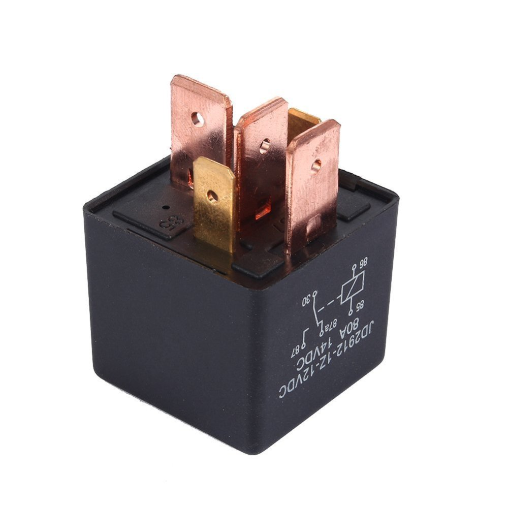 medium resolution of get quotations delaman 5pin relay car vehicle automotive amp dc 12v 80a split charge black