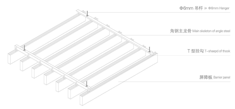 Wholesale Wood Grain Access Panel Aluminum Baffle Ceiling