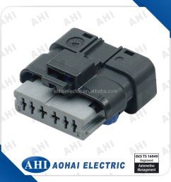 211pc069s0049 6 pin pbt wire harness waterproof cable splicing black auto connector [ 900 x 900 Pixel ]
