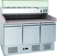 Commercial Pizza Counter Chiller,Pizza Table,Pizza Fridge ...