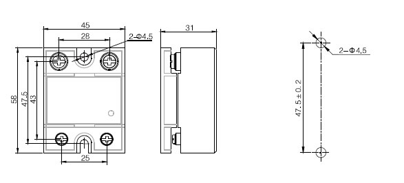 Xssr-w5 Tuv&rohs Dc To Ac Type Single Phase 40da Solid