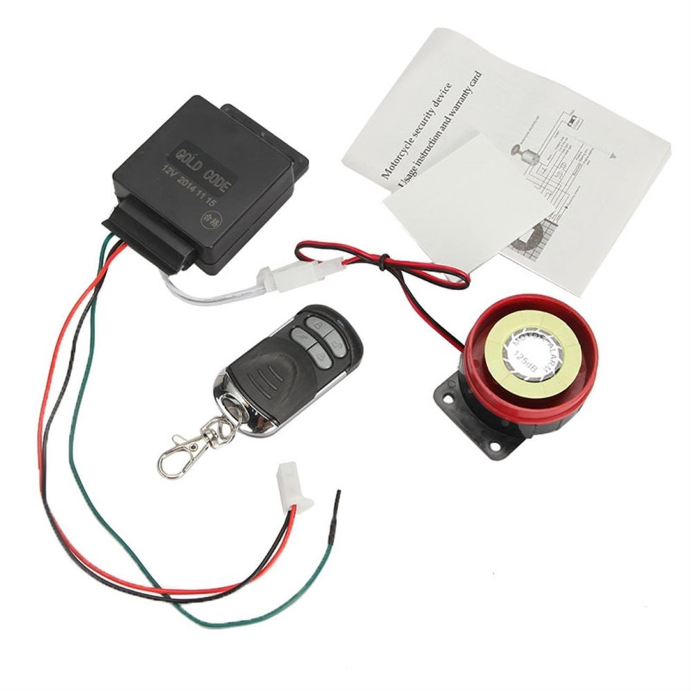 medium resolution of get quotations innoglow motorcycle single way motorized 12v motor bike anti theft remote control cheap alarm wiring diagram
