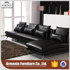 Leather Sofa Set For Living Room Pictures Of Gray And White Rooms 2017 New Design European Style Furniture Corner Black Genuine