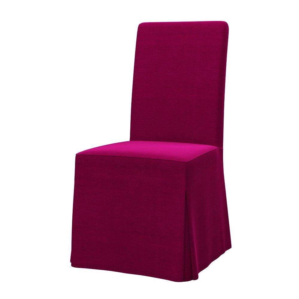 chair cover elegance nursery room chairs buy soferia ikea henriksdal long dark pink