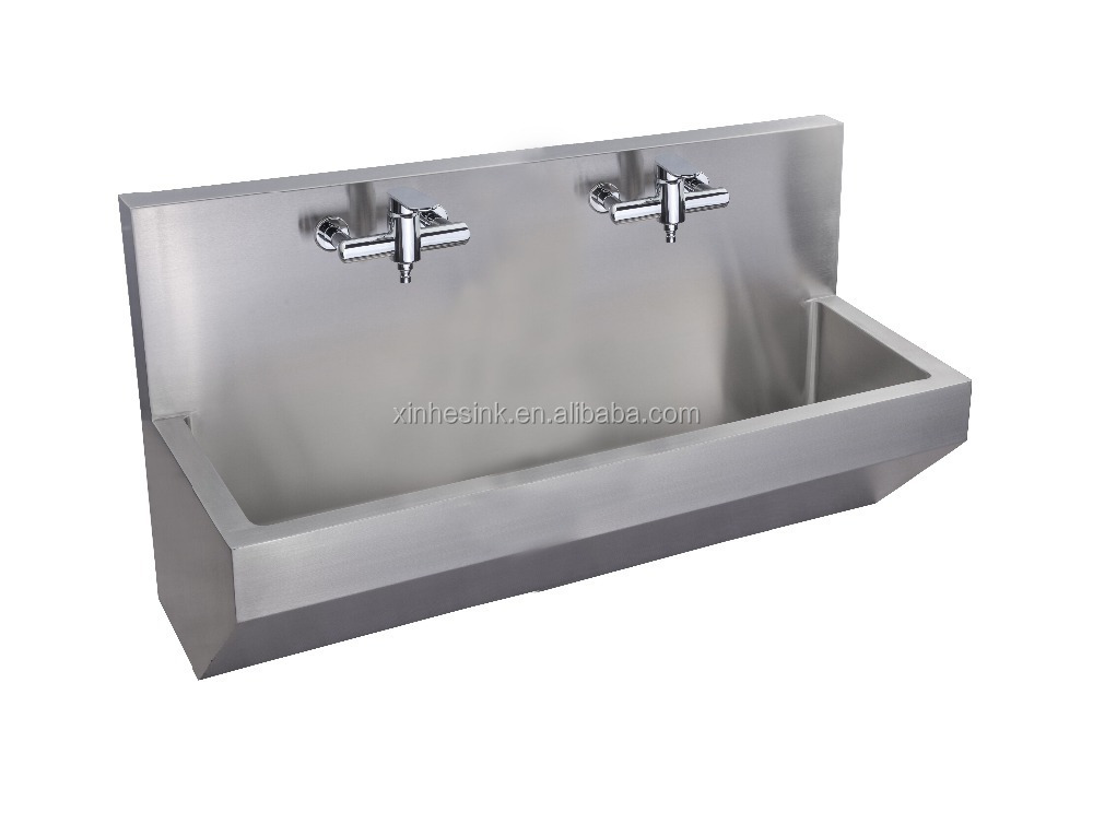 140cm Wall Mounted 304 Stainless Steel Scrub Sink For