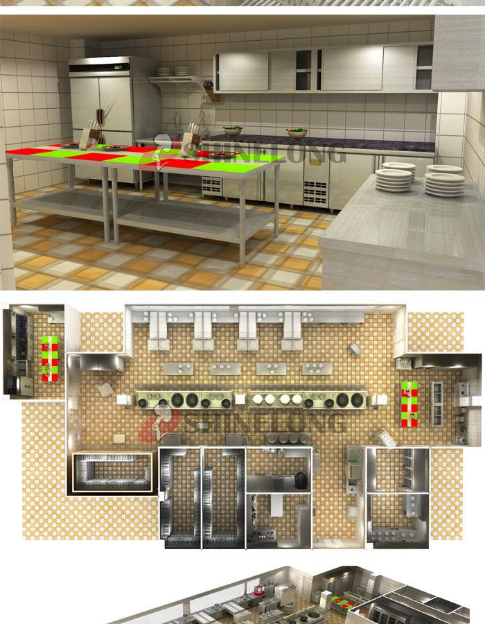 Shinelong Customized Project Canteen Kitchen Design  Buy