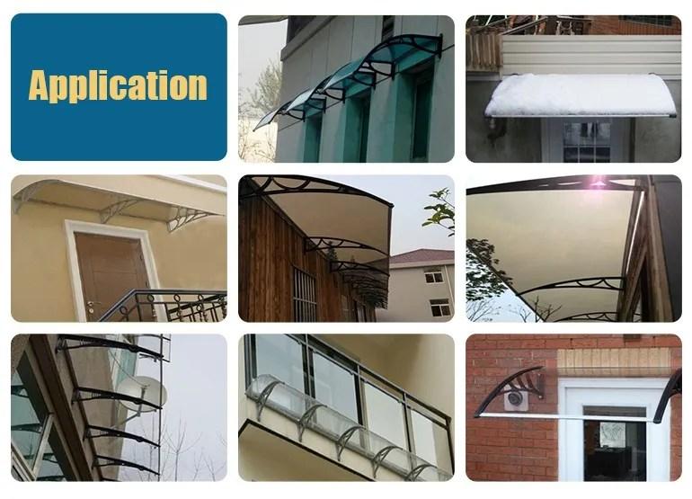 auvent impermeable pour fenetre de balcon auvent d exterieur en polycarbonate abri de neige de pluie buy auvent de balcon en polycarbonate auvent en