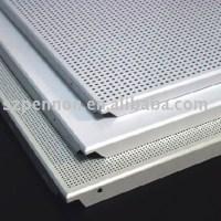 Perforated Aluminum Metal Clip-in Type Ceiling Panel Tiles ...