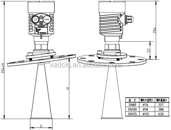 China Manufacture Solid Radar Level Transmitter For Fly