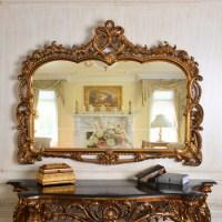 Pu247 Classic Fancy Wall Decorative Framed Mirror Elegant ...