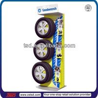 Tsd-m376 Custom Design Free Standing Promotion Metal Tire ...
