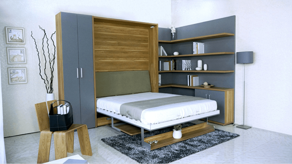 Moderne Enkele Verborgen Meubels Murphy Bed Muur Bed