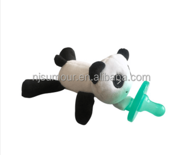 Wholesale New Design Cute Plush Toy Pacifier Baby Animal Toy With Nipple