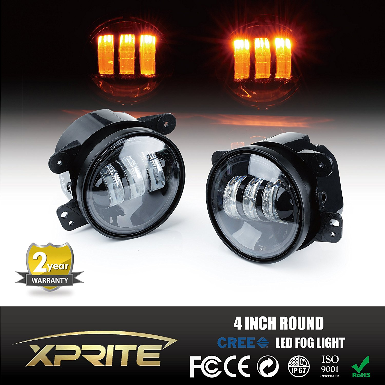 hight resolution of get quotations xprite 4 inch amber yellow 60w cree led fog lights for jeep wrangler 1997