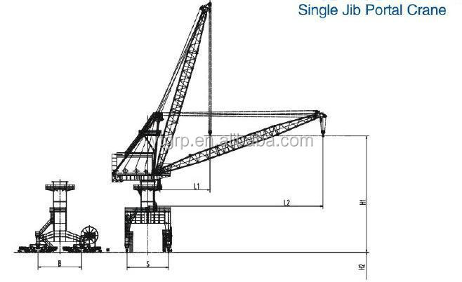300 Ton Quayside Container Crane/port Crane And Jetty