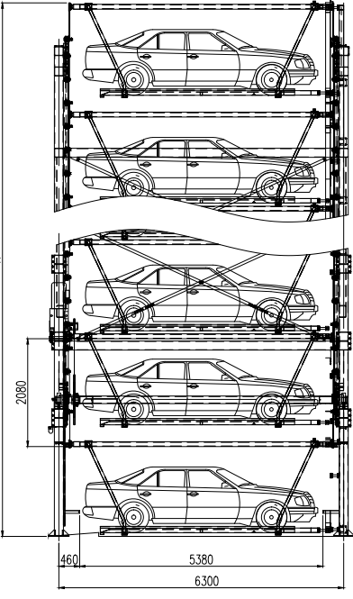 Standard Vertical Rotary Automated Car Smarttower Parking