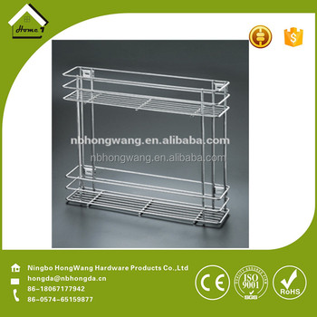 kitchen wire rack knife magnet ningbo factorystainless steel and cabinet basket
