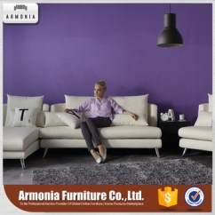 Custom Made Living Room Furniture Cabin Rooms Modern Large High Back Corner Cover Sectional Leather Sofa