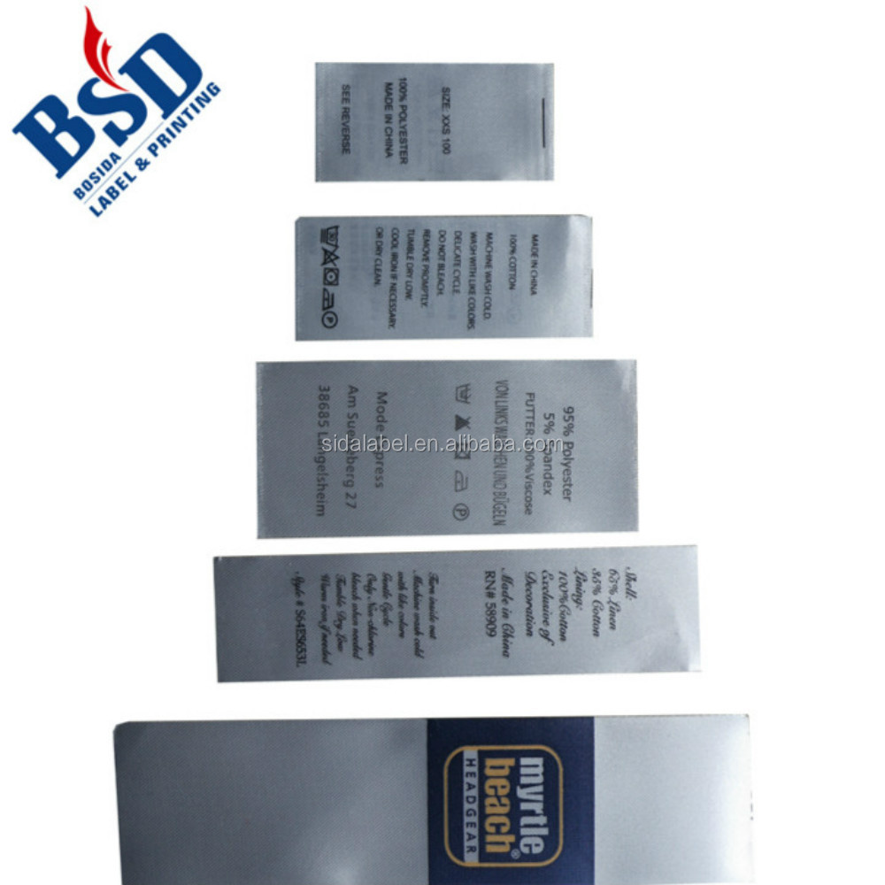hight resolution of custom cleaning symbols labels reverse printed labels care print label with cloth care symbols