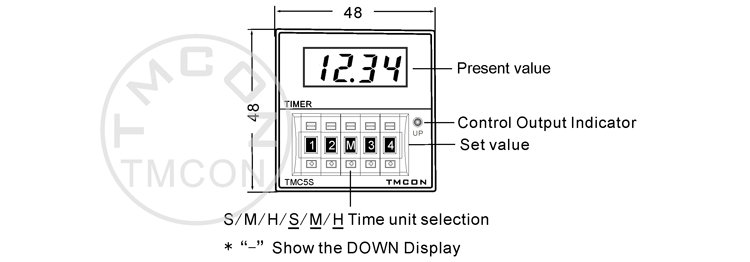 Tmc5s Dh48s H5cn Tmcon Din 48*48mm Led Display Digital