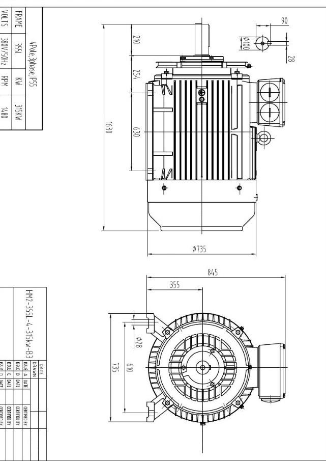 3 Phase Ac Induction Motor Electric Motor 7.5kw 10kw 45kw