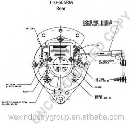 12 V mini alternador prestolite para Carrier Transicold