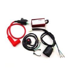 tc motor racing ignition coil ac cdi box wiring loom harness kill [ 1001 x 1001 Pixel ]