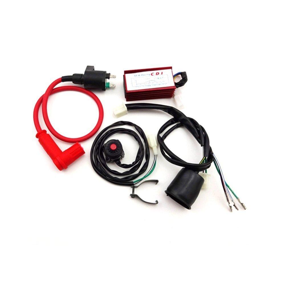 medium resolution of tc motor racing ignition coil ac cdi box wiring loom harness kill
