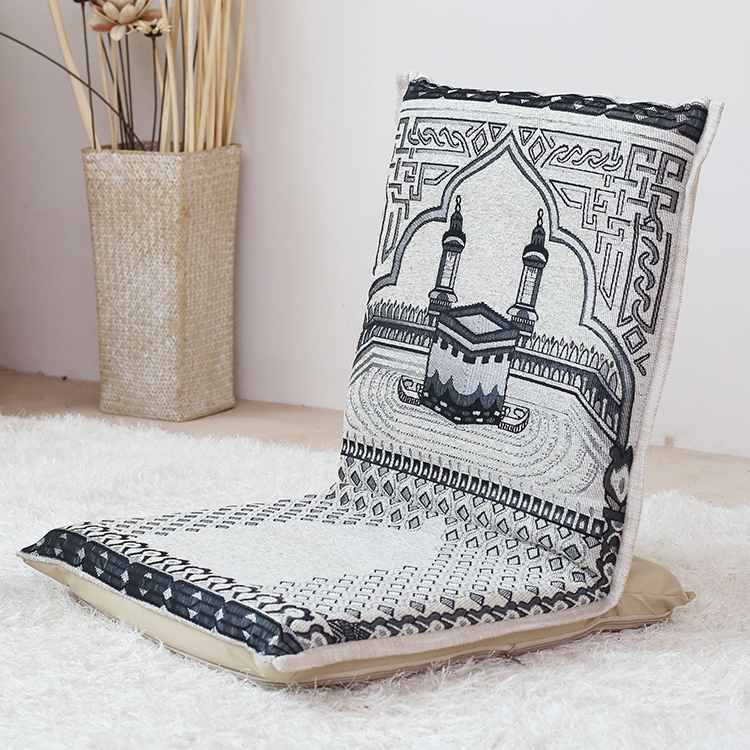 portable folding floor chairs high back upholstered dining muslim prayer chair yoga easy 163