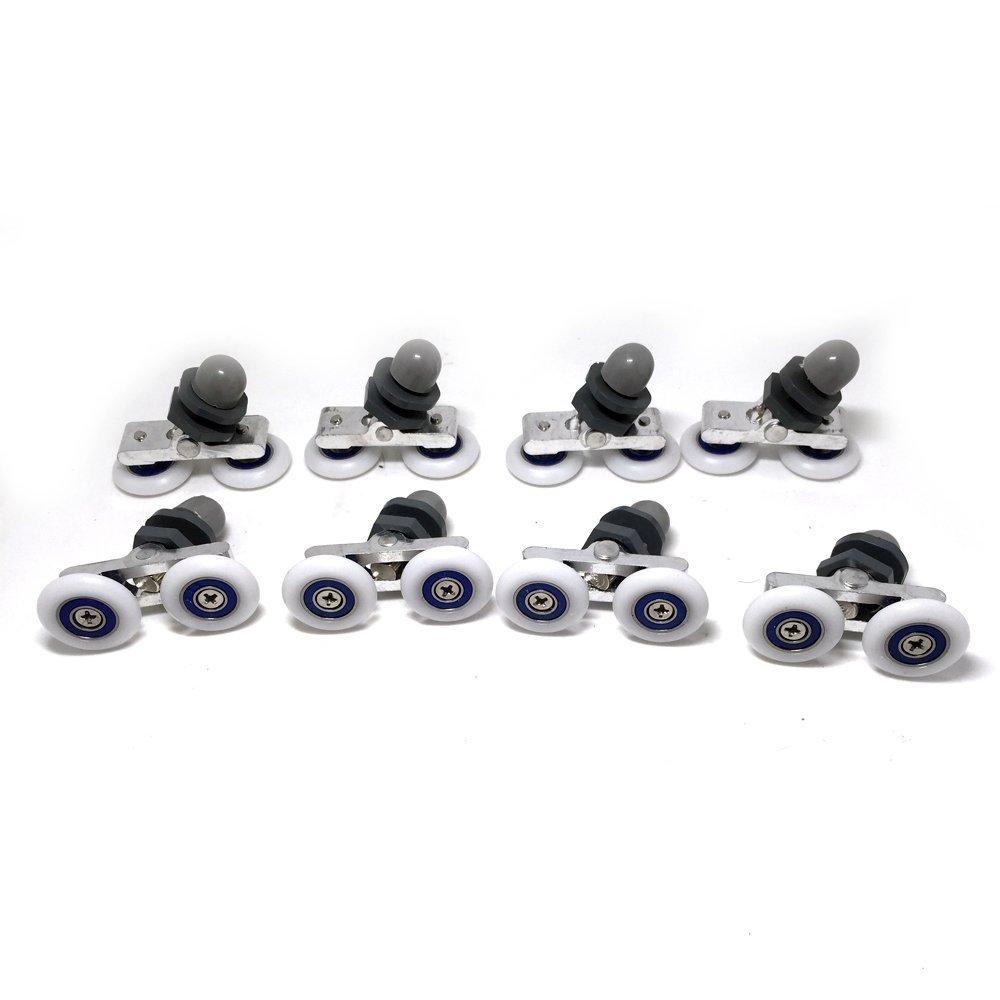 Buy 8 Pcs Shower Door Runners Shower Door Rollers 20mm in