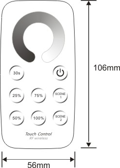 T1+r1-010v Best Selling Products 0-10v Signal Touch Remote