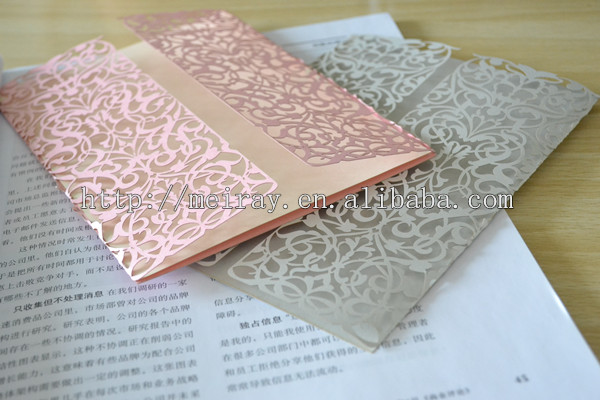 Laser Cut Mint Green Wedding Invitation Card Lace Your Option