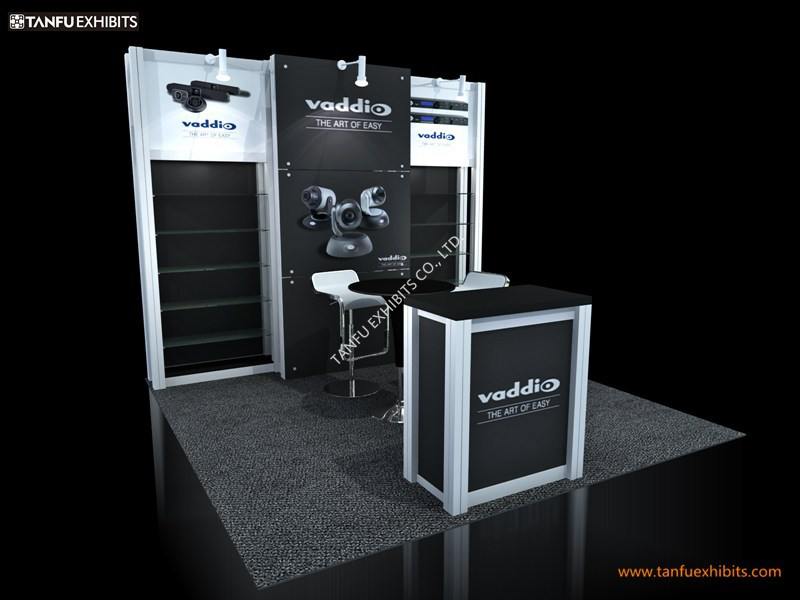 Industrial 10x10 3x3 Exhibition Stall Booth With Shelf Or Shelving  Buy 3x3 Exhibition Stall