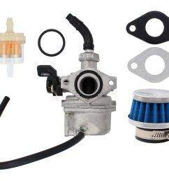 get quotations carburetor air fuel filter pz19 carb for 50cc 70cc 90cc 110cc 125cc atv dirt pit pocket [ 1084 x 832 Pixel ]