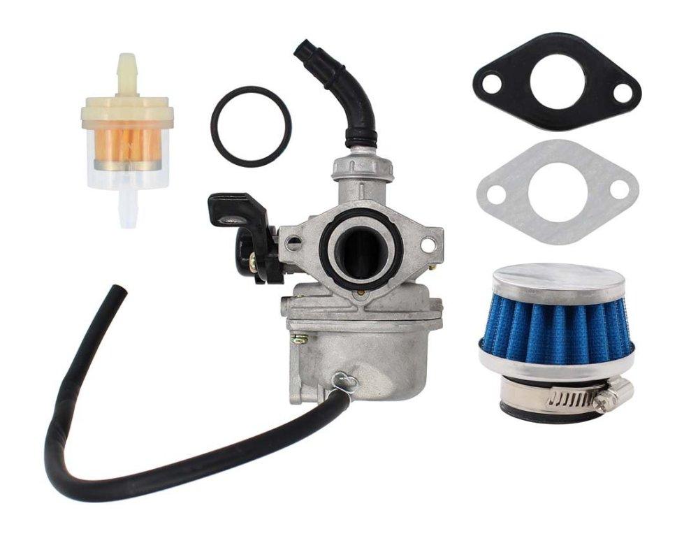 medium resolution of get quotations carburetor air fuel filter pz19 carb for 50cc 70cc 90cc 110cc 125cc atv dirt pit pocket