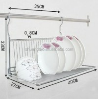 Practical Metal Hanging Dish Rack,Wall Mount Dinner Plate ...