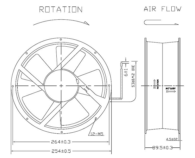 Ce Certification Exhaust Air Conditioning Cooling Fan