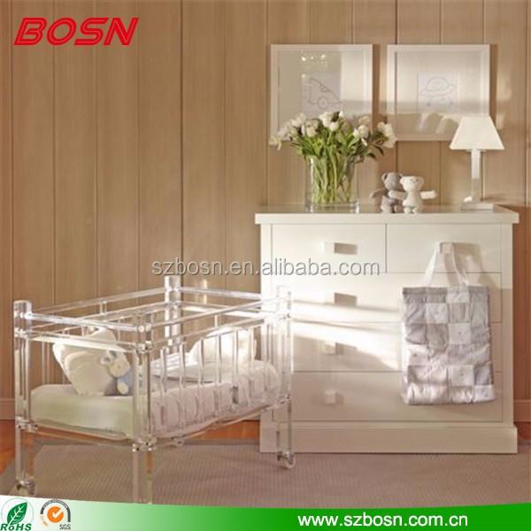 luxe haute qualite lucite acrylique bebe berceaux perspex meubles enfant lit bebe pour la decoration de la maison buy berceaux de luxe lit enfant en